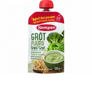 Semper spiseklar grød med broccoli & ærter - ammenam