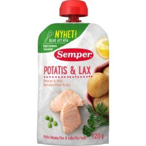 Semper babymad med Kartofler & Laks