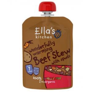 Ellas Kitchen babymad - vidunderlig varmende gryderet med oksekød og tilbehør