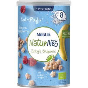 Nestlé NaturNes Puff med Banan og hindbær