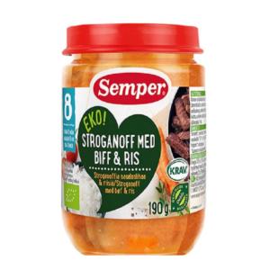 Semper økologisk stroganof med ris og bøf - ammenam
