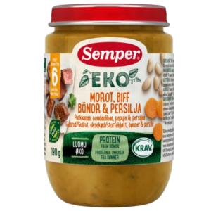 Semper Gulerod, bøf, bønner og persille - Ammenam