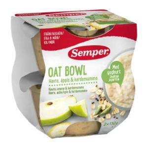 Semper Oat Bowl med æble og kardemomme - Ammenam.dk